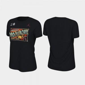 Oklahoma Sooners T-Shirt For Women's 2019 Peach Bowl Bound Illustration Black