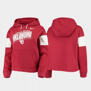 Oklahoma Sooners Hoodie Women's Pullover Crimson Local