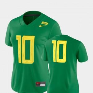 Oregon Ducks Jersey 2018 Mighty Oregon #10 Football Game Women's Green
