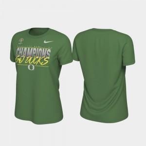 Oregon Ducks T-Shirt For Women Apple Green 2020 Rose Bowl Champions Locker Room