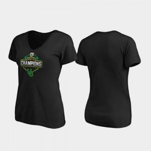 Oregon Ducks T-Shirt V-Neck For Women's Black 2019 PAC-12 North Football Division Champions