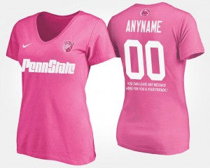 Penn State Nittany Lions Customized T-Shirts #00 Pink With Message Women