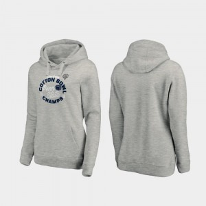 Penn State Nittany Lions Hoodie Ladies Curl Logo Heather Gray 2019 Cotton Bowl Champions