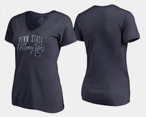 Penn State Nittany Lions T-Shirt V-Neck Women Navy Graceful