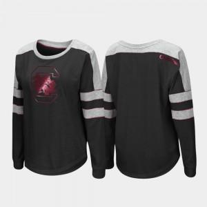 South Carolina Gamecocks T-Shirt Womens Long Sleeve Trey Dolman Black