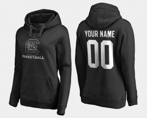 South Carolina Gamecocks Custom Hoodie Black Basketball - #00 Ladies