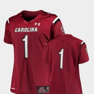 South Carolina Gamecocks Jersey Ladies Garnet College Football Finished Replica #1