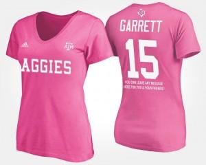 Texas A&M Aggies Myles Garrett T-Shirt With Message Pink Women's #15