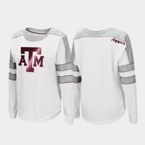 Texas A&M Aggies T-Shirt Trey Dolman White Long Sleeve Ladies