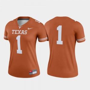 Texas Longhorns Jersey College Football Women Legend Texas Orange #1