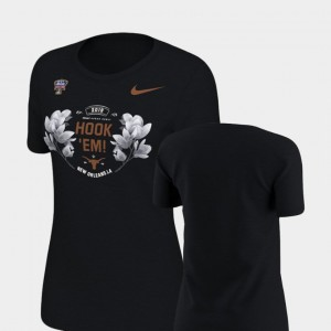 Texas Longhorns T-Shirt Verbiage Black 2019 Sugar Bowl Bound Womens