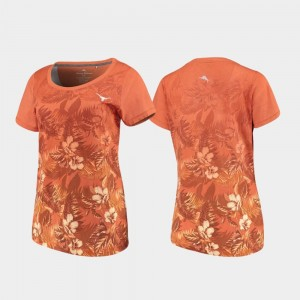 Texas Longhorns T-Shirt Texas Orange Floral Victory Women's Tommy Bahama