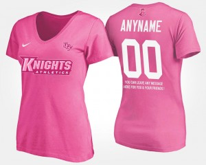 UCF Knights Customized T-Shirt For Women Pink #00 With Message