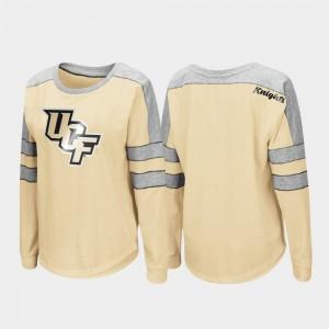UCF Knights T-Shirt Gold Trey Dolman For Women's Long Sleeve