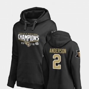 UCF Knights Otis Anderson Hoodie For Women Black Goal #2 2018 Peach Bowl Champions