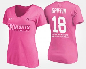 UCF Knights Shaquem Griffin T-Shirt Pink With Message Ladies #18