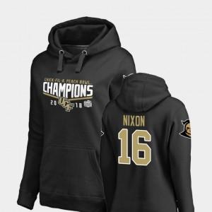 UCF Knights Tre Nixon Hoodie #16 Goal 2018 Peach Bowl Champions Black Women's
