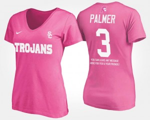 USC Trojans Carson Palmer T-Shirt Pink With Message #3 For Women