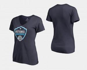 Villanova Wildcats T-Shirt 2018 Champs Cut Official Logo For Women's Basketball National Champions Navy