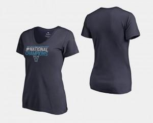 Villanova Wildcats T-Shirt For Women's Basketball National Champions 2018 Dribble V-Neck Navy