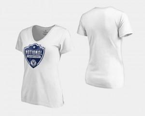 Villanova Wildcats T-Shirt Ladies Basketball National Champions 2018 Cut V-Neck White