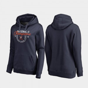 Virginia Cavaliers Hoodie 2019 NCAA Basketball National Champions Jump Pullover For Women Navy 2019 Men's Basketball Champions