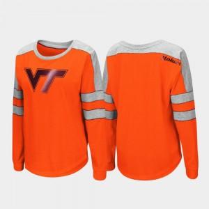 Virginia Tech Hokies T-Shirt Long Sleeve Trey Dolman Women's Orange