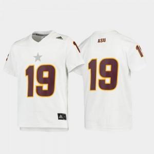 Arizona State Sun Devils Jersey Youth(Kids) Football Replica #19 White