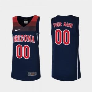 Arizona Wildcats Custom Jerseys Replica Navy College Basketball #00 Kids