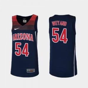 Arizona Wildcats Matt Weyand Jersey College Basketball Replica Youth(Kids) Navy #54