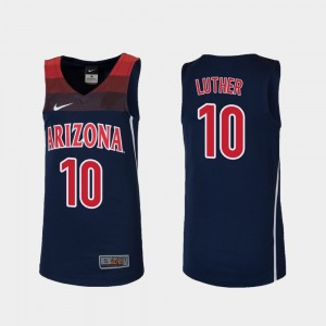 Arizona Wildcats Ryan Luther Jersey Replica Youth Navy #10 College Basketball