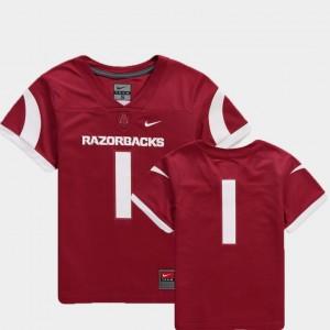 Arkansas Razorbacks Jersey #1 College Football Team Replica Cardinal Youth