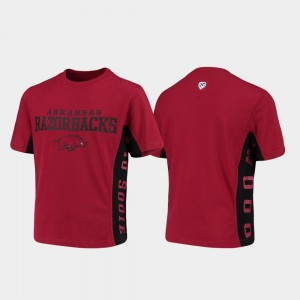 Arkansas Razorbacks T-Shirt Side Bar Cardinal Youth