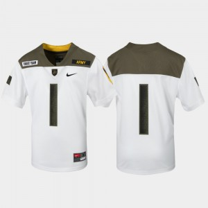 Army Black Knights Jersey #1 Kids 1st Cavalry Division White Limited Edition Replica