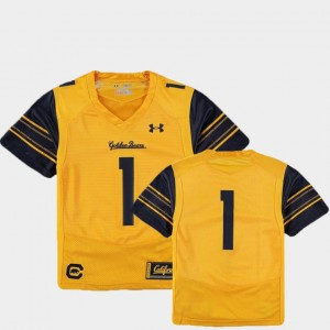 California Golden Bears Jersey Gold #1 College Football Finished Replica Youth(Kids)