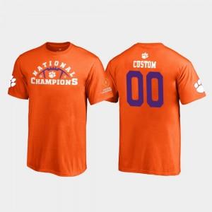 Clemson Tigers Custom T-Shirts Kids 2018 National Champions #00 Pylon Orange