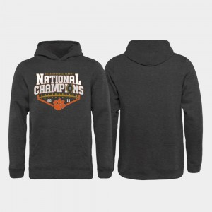 Clemson Tigers Hoodie 2018 National Champions Kids Heather Gray College Football Playoff Rollout