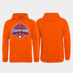 Clemson Tigers Hoodie 2018 National Champions For Kids College Football Playoff Gridiron Orange