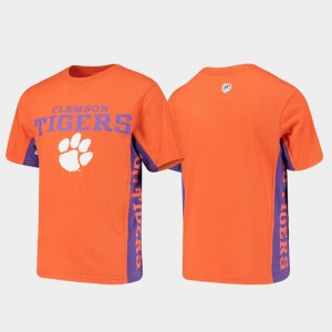 Clemson Tigers T-Shirt Side Bar Youth Orange