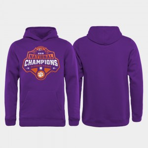 Clemson Tigers Hoodie College Football Playoff Gridiron Youth(Kids) Purple 2018 National Champions