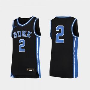 Duke Blue Devils Jersey Replica #2 For Kids Basketball Black