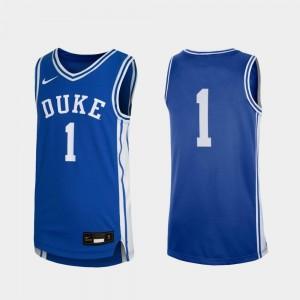 Duke Blue Devils Jersey Replica Royal #1 Youth(Kids) College Basketball
