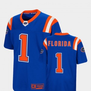 Florida Gators Jersey #1 For Kids Foos-Ball Football Colosseum Authentic Royal