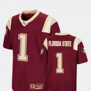 Florida State Seminoles Jersey #1 Foos-Ball Football Kids Colosseum Authentic Garnet