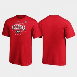 Georgia Bulldogs T-Shirt Kids Red Tackle 2020 Sugar Bowl Bound