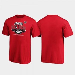 Georgia Bulldogs T-Shirt Kids Red Receiver 2020 Sugar Bowl Champions
