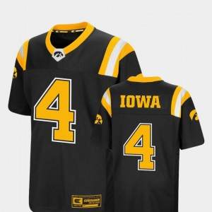Iowa Hawkeyes Jersey #4 Colosseum Authentic Youth(Kids) Foos-Ball Football Black
