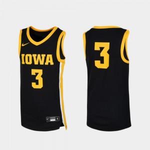 Iowa Hawkeyes Jersey Basketball Replica Youth Black #3