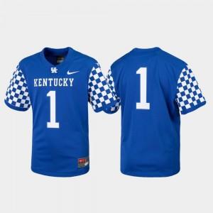 Kentucky Wildcats Jersey College Football Replica Royal #1 Kids