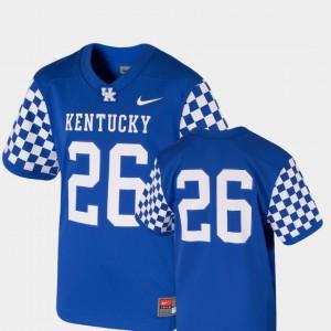 Kentucky Wildcats Jersey College Football #26 Royal Kids Team Replica
